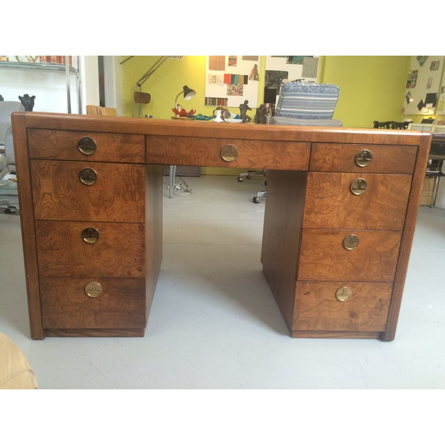 Art Deco Sligh Pedestal Desk - Image 2 of 8