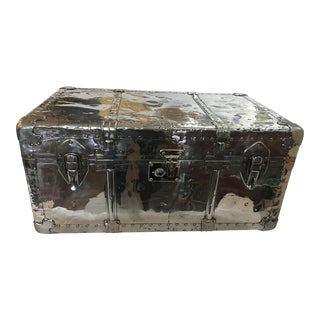 Beautiful Old English Polished Aluminum Trunk