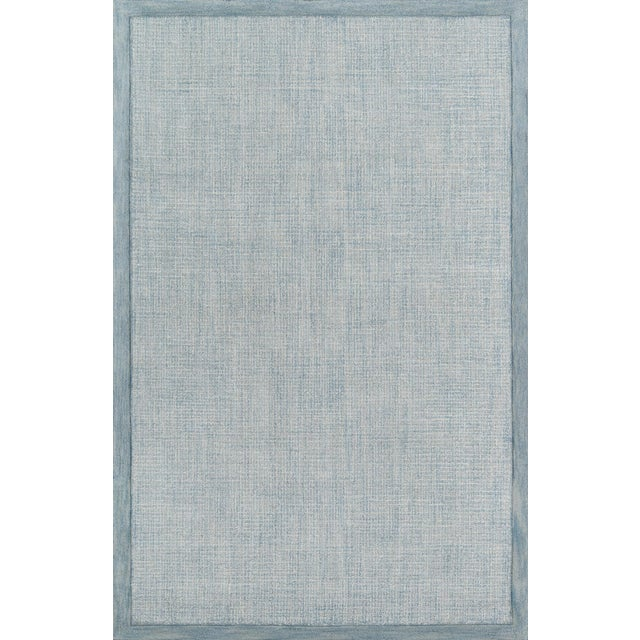 Contemporary Momeni Delhi Hand Tufted Blue Wool Area Rug - 8' X 10' For Sale In Atlanta - Image 6 of 6