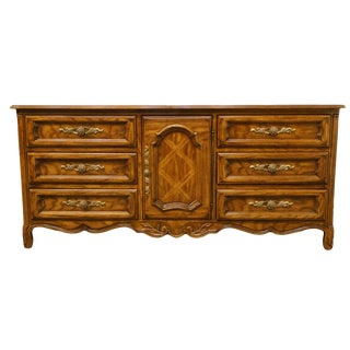 "20th Century Traditional Drexel Heritage Cabernet II Collection 72"" Triple Door Dresser For Sale"