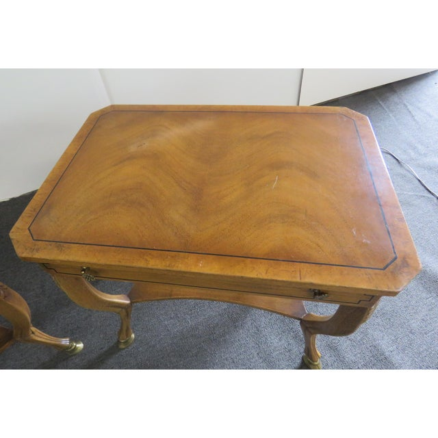 Pair of Regency Style End Tables For Sale In Philadelphia - Image 6 of 13