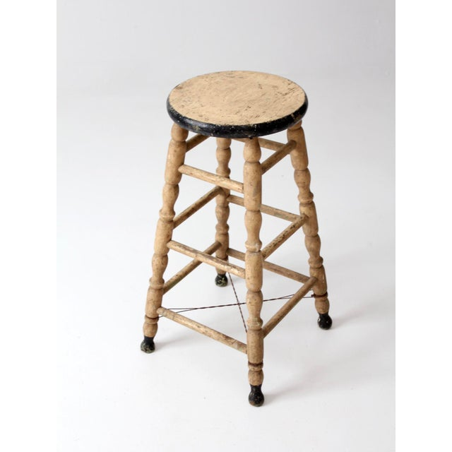 Antique Turned Leg Stool For Sale - Image 6 of 8