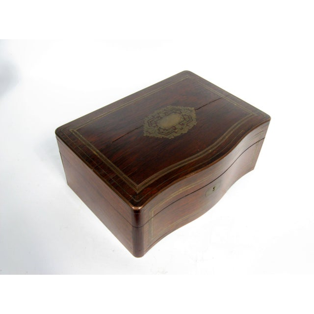 Antique Mahogany and Brass Silver Chest Box - Image 3 of 6