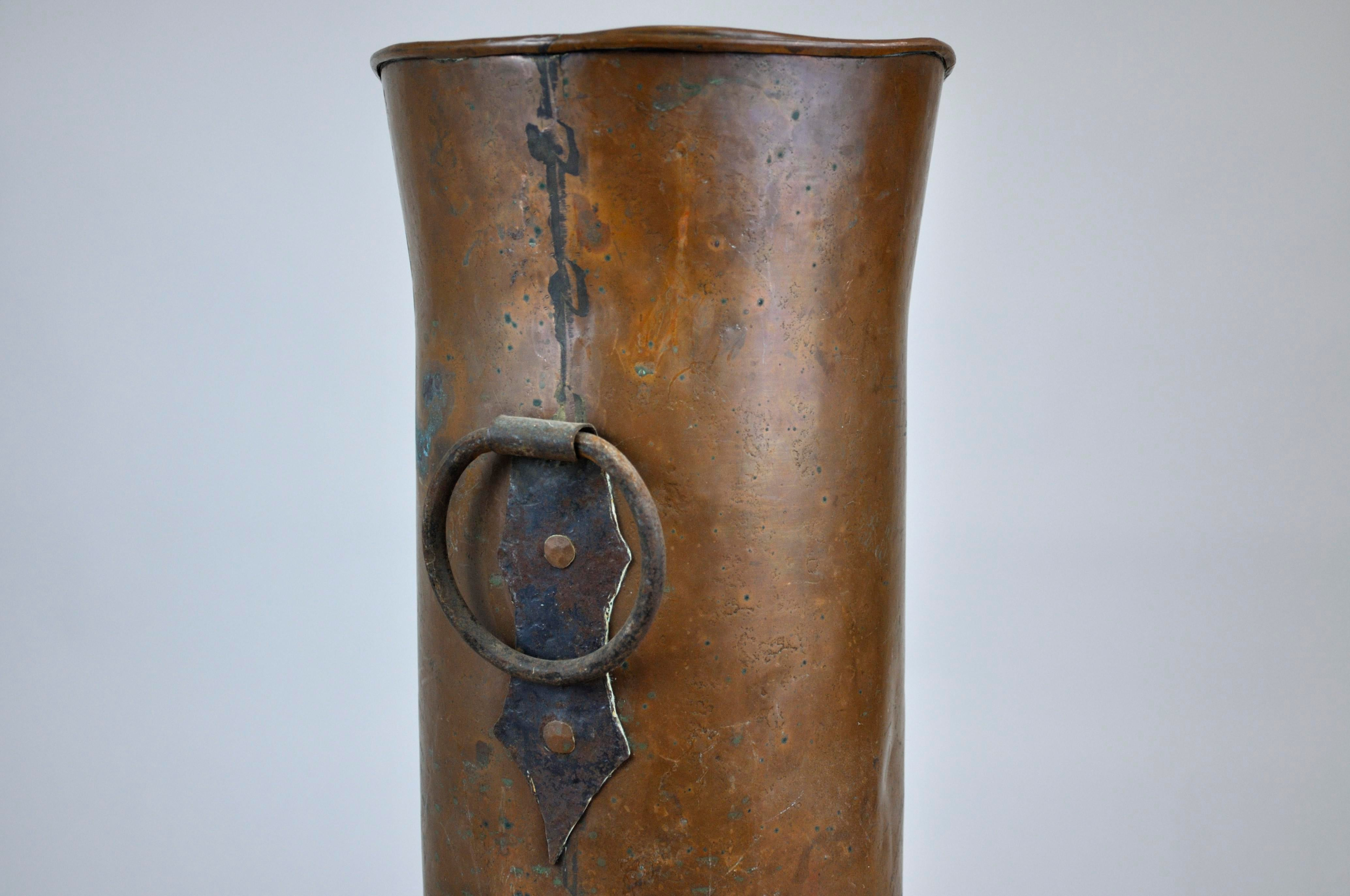 antique french handmade copper umbrella holder | chairish Copper Umbrella Holder