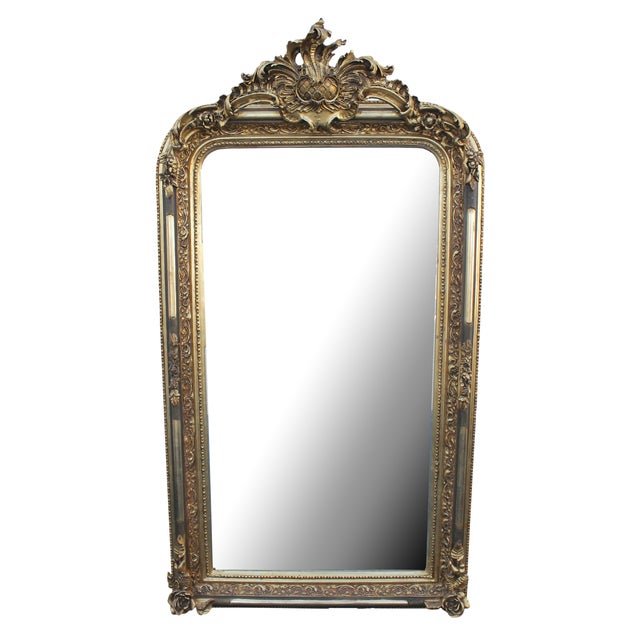 Ornate Carved Gilded French Mirror - Image 1 of 7