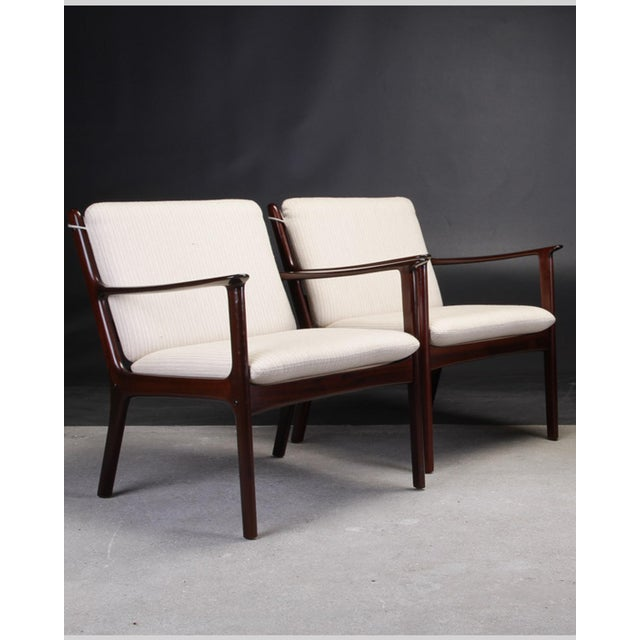 Wood 1950s Ole Wanscher Pj112 Lounge Chairs in Mahogany - a Pair For Sale - Image 7 of 7