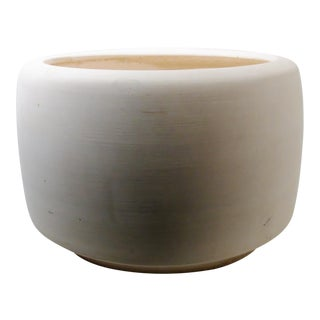"John Follis Rex Goode Mid-Century Architectural Pottery Bisque ""Tire"" Planter For Sale"