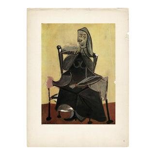 1943 Picasso Original Femme Assise Parisian Lithograph For Sale