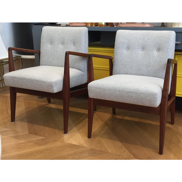 Vintage Mid Century Jens Risom Lounge Chairs- a Pair For Sale - Image 12 of 12