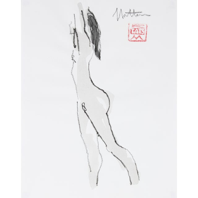Ink Wash Figure by R. Matteson - Image 1 of 2