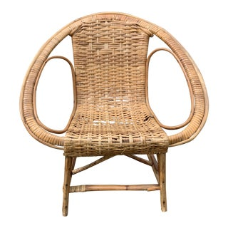 Rare Bentwood Rattan Children's Cane Chair For Sale