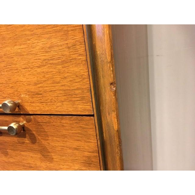 Metal Vintage Mid-Century Tall Dresser For Sale - Image 7 of 12
