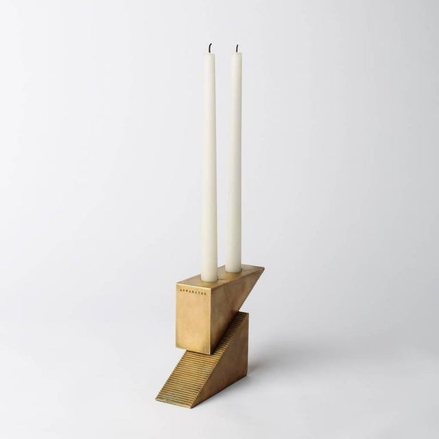 Inspired by precision studio tools, candle blocks are triangular forms with fine interlocking teeth that allow the...