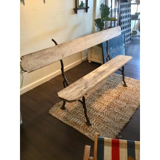 20th Century French Wood and Metal Garden Bench Preview