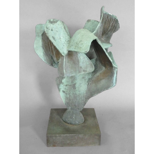 Organic Free-Form Abstract Bronze Sculpture For Sale - Image 4 of 4