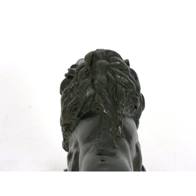 "Metal ""Lion Marchant"" Antique French Bronze Sculpture by Antoine-Louis Barye, Barbedienne For Sale - Image 7 of 13"
