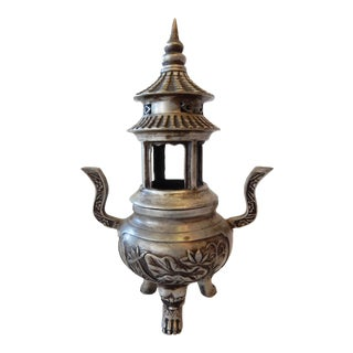 Bronze Tibetan Pagoda Incense Burner For Sale