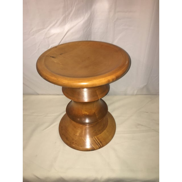 Mid-Century Modern Eames Inspired Low Stool For Sale - Image 3 of 6