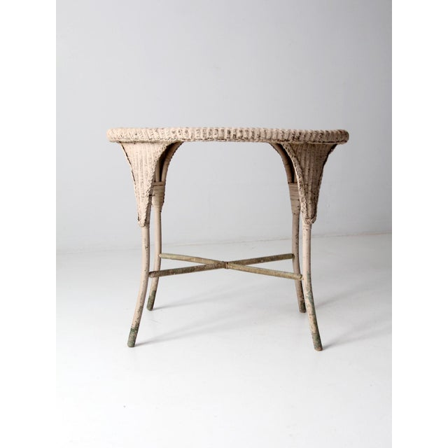 Victorian Antique Wicker Side Table For Sale - Image 3 of 13
