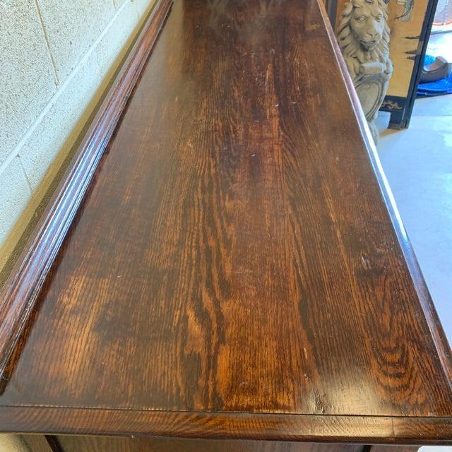 Vintage Dark Oak Carved Wood Server Hunt Board For Sale - Image 4 of 13