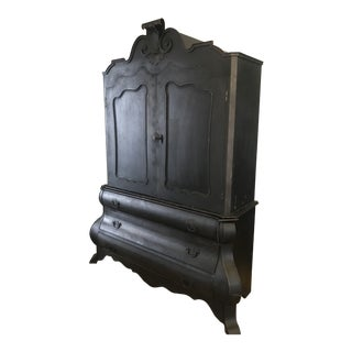 Restoration Hardware Dutch Merchants Black Armoire For Sale