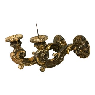 Italian Baroque Wall Mounted Sconces - A Pair For Sale
