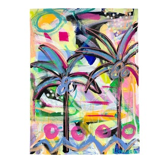 """Palms #19"" Abstract Painting by Christina Longoria For Sale"