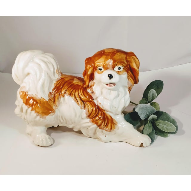 **Limited Quantity**16.3 inches Life Size Cavalier King Charles Spaniel Figurine