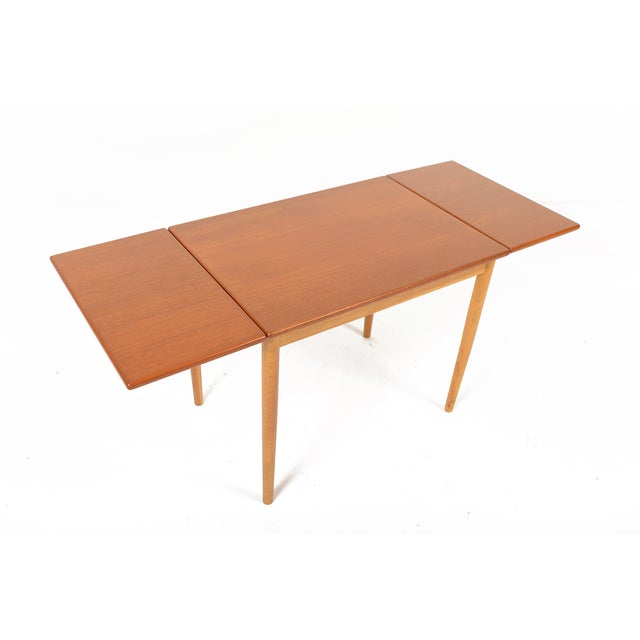 Borge Mogensen Teak & Oak Drop Leaf Coffee Table For Sale - Image 7 of 9