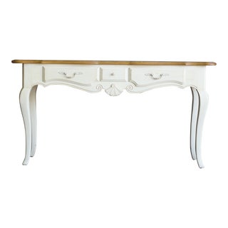 French Country Ethan Allen Console Table For Sale