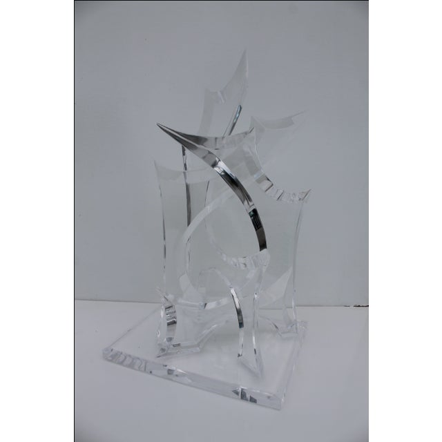 Abstract Lucite Sculpture by Van Tial - Image 11 of 11