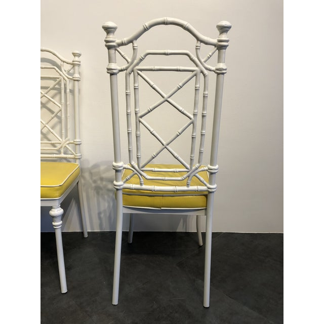 1960s Vintage Kessler for Thomasville Iron Bamboo Chairs - Set of Six For Sale In Buffalo - Image 6 of 12
