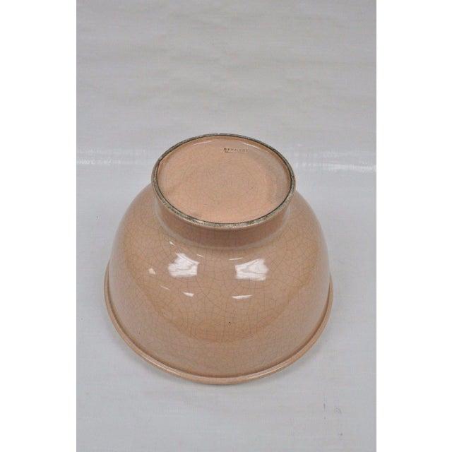 "Peach Vintage Bitossi Italian Mid Century Modern Pink 10""h Crackle Glazed Ceramic Bowl For Sale - Image 8 of 10"