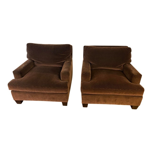 Barbara Barry Modern Lounge Chairs - A Pair For Sale