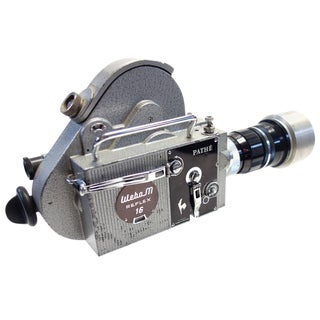 Pathe Motion Picture Camera Mounted on Glass Circa Mid-20th As Sculpture For Sale