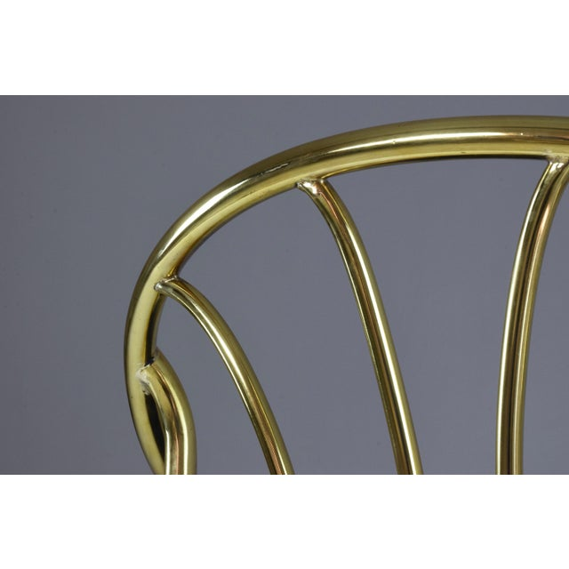 Blue 20th Century French Vintage Brass Armchair, 1970-1980 For Sale - Image 8 of 13