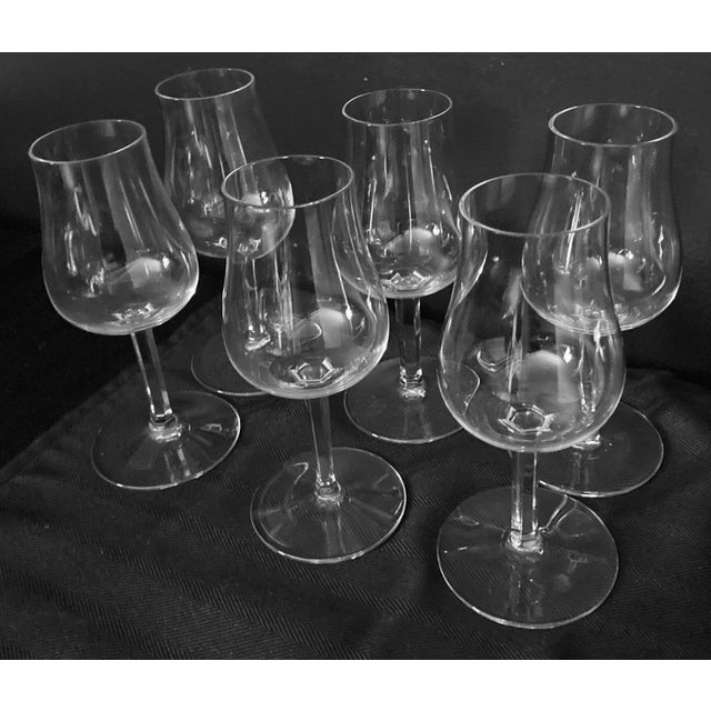 Contemporary Baccaret Claret Wine Glasses - Set of 6 For Sale - Image 3 of 9