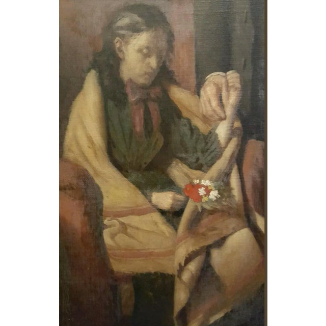 19th Century Antique Oil Painting, Doctor's Visit - Image 4 of 6