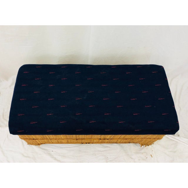 Bamboo Antique Woven Bamboo Blanket Bench For Sale - Image 7 of 10