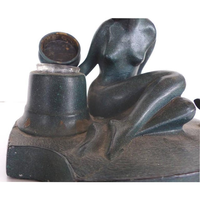 Art Deco Frankart Figural Lady Inkwell For Sale In Miami - Image 6 of 9