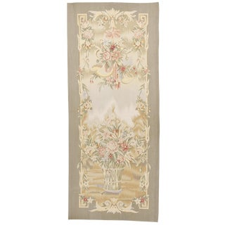 Chinese Aubusson Floral Tapestry For Sale