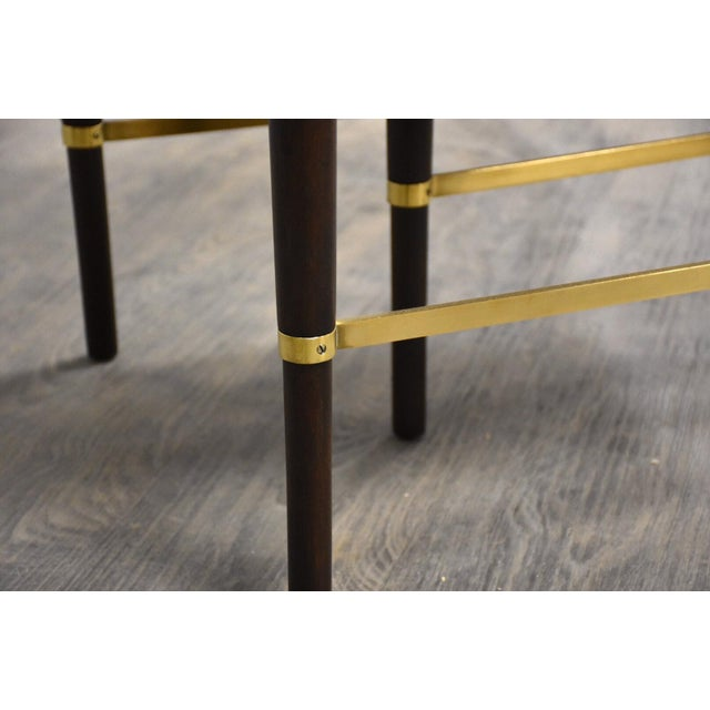 Paul McCobb Mahogany and Brass Dining Table For Sale - Image 12 of 13