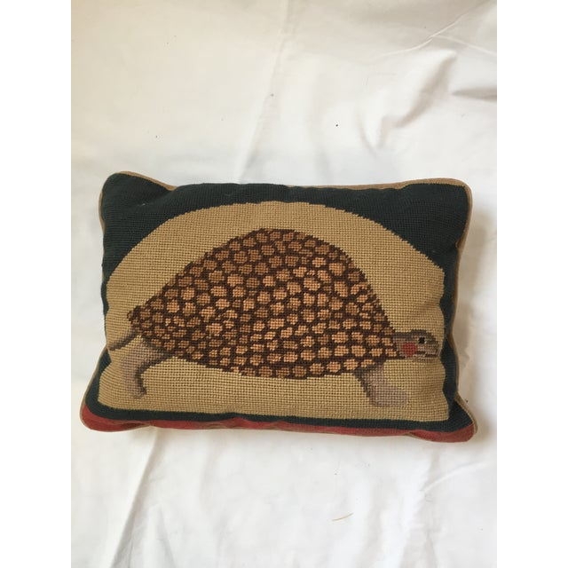 Needlepoint Turtle Accent Pillow - Image 6 of 6
