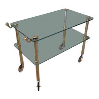 Osvaldo Borsani Brass Serving Cart Ca' 1950's For Sale
