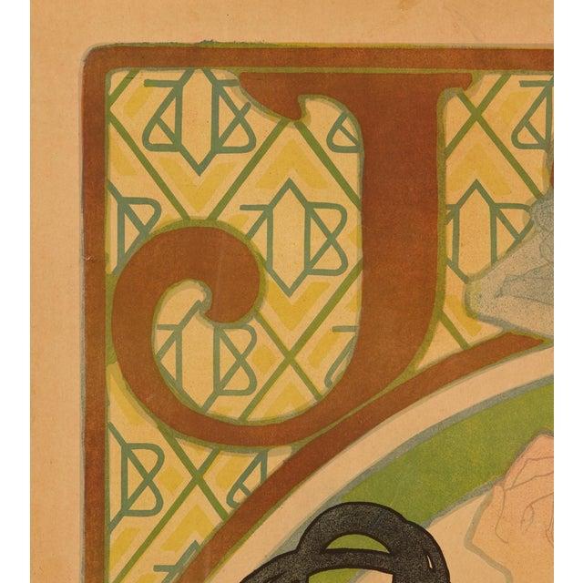 "Alphonse Mucha Late 19th Century Alphonse Mucha Original ""Job"" Poster For Sale - Image 4 of 7"