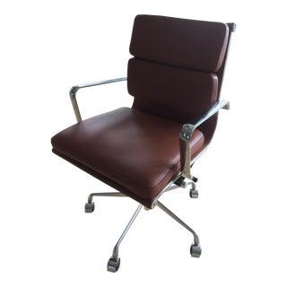 Laura Davidson Soho Brown Italian Leather Soft Pad Office Chair