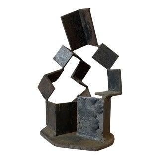 Modernist Welded Steel Sculpture For Sale