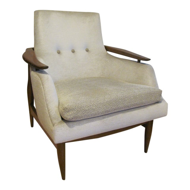 Vintage Mid Century Finn Juhl Style Lounge Chair For Sale