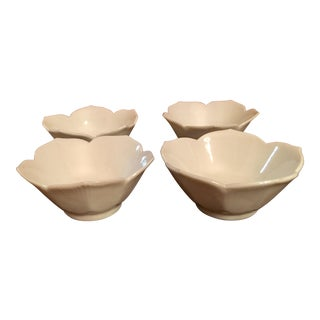 Mid-Century Ivory Lotus Bowls - Set of 4