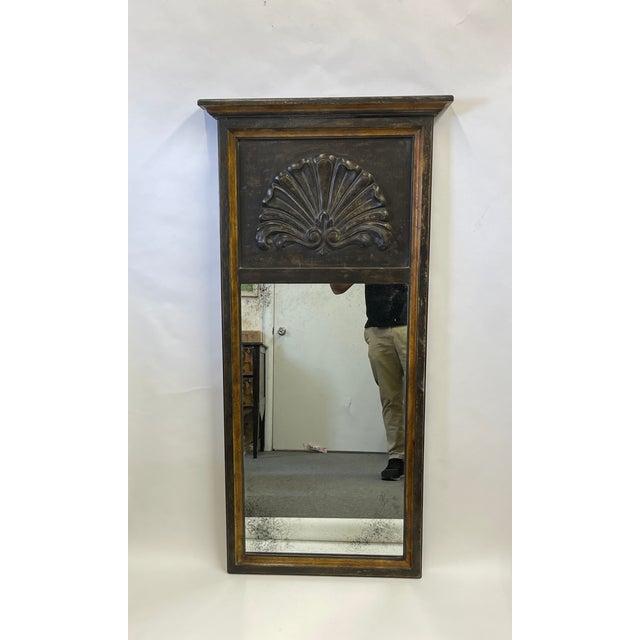 Wood Florentine Black Wood Mirror For Sale - Image 7 of 7